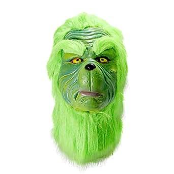 Amazon Com Grinch Mask Christmas Costume Full Head Latex