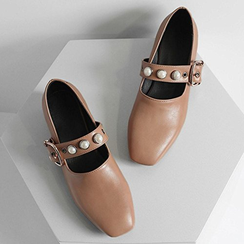 Escarpins Talons apricot Femmes Chunky Coolcept xqCS17nw