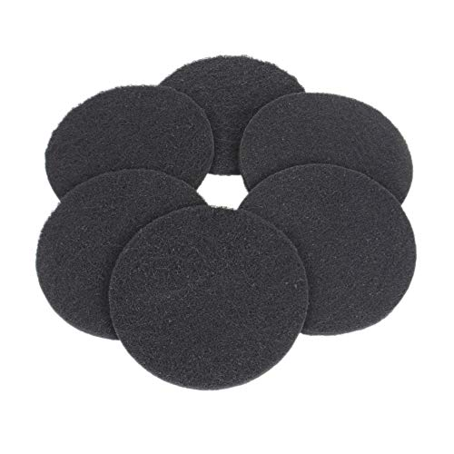 Gifbest Compost Filter Replacement Compost Bin Charcoal Filters 7.25inch Round 10mm Thick 6Packs in a Printed Box ()