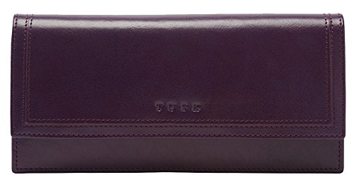 Tusk Kent Gusseted Clutch Wallet SK434 (Purple) by TUSK