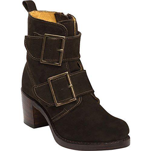 Frye Women's Sabrina Double Buckle Suede Boot Brown 6 M by FRYE (Image #1)