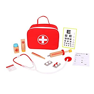 TOYSTER'S Doctor Kit for Kids | Toy Nurse Vet Playset for Toddler Boys and Girls | Wooden Interactive Medical Play Set | Suitable for Ages 3 and Up: Toys & Games