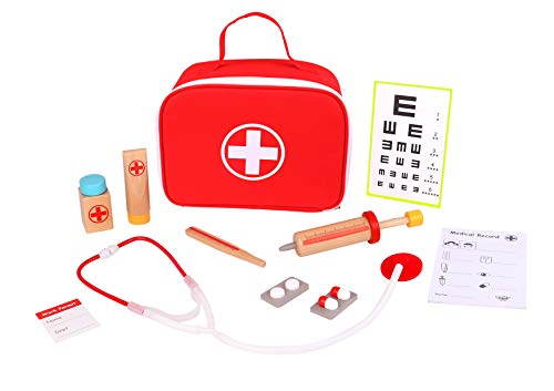 (TOYSTERS Doctor Kit for Kids | Toy Nurse Vet Playset for Toddler Boys and Girls | Wooden Interactive Medical Play Set | Suitable for Ages 3 and)