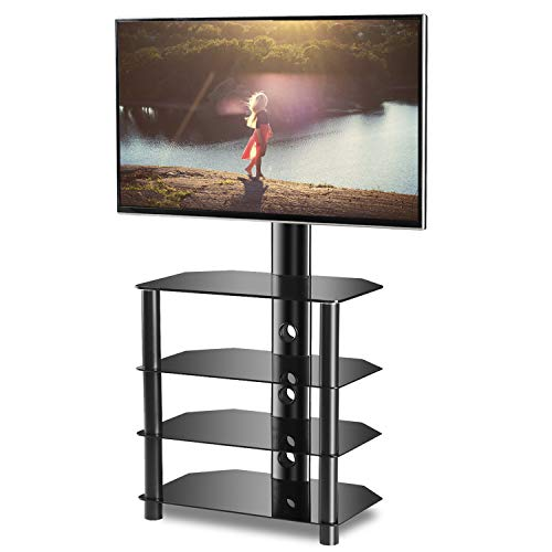 - TAVR 4-Tiers Media Component TV Stand with Mount Audio Shelf and Height Adjustable Bracket Suit for 32-55 inch LCD, LED OLED TVs or Curved TVs TW1004
