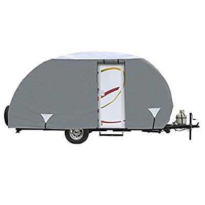 Classic Accessories Grey OverDrive Tear Drop R-Pod Travel Trailer Cover