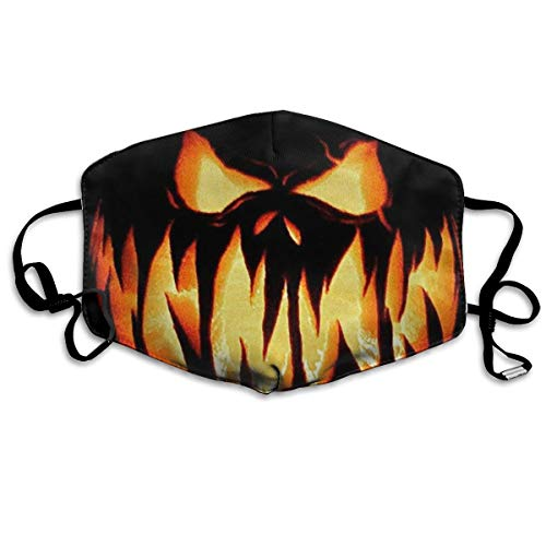 Halloween Pumpkin Evil Smiley Face Anti Dust Face Mask,Reusable Warm Windproof Mouth Mask]()