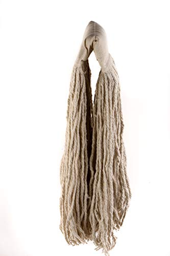 [24 PACK] EcoQuality Commercial Mop Head #24, 24oz Mop Head Blended Yarn - X-Large For Commercial And Industrial Use | Cotton Mop Head Replacement | 24 Ounce (White) by EcoQuality (Image #3)