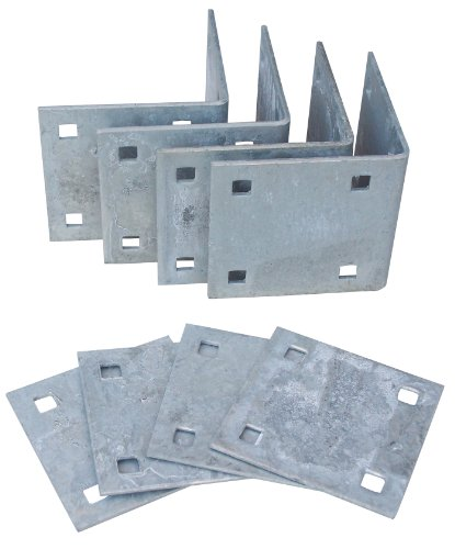 (Dock Edge Howell Dock Hardware Floating Inside Corner Kit with 4 Inside Corners and 4 Backer Plates)