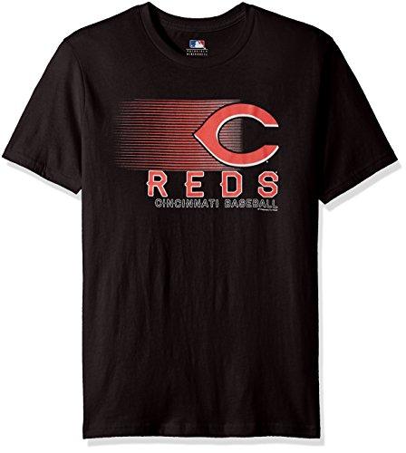 Cincinnati Reds Mens Shorts - MLB Cincinnati Reds Men's Notable Splurge Tee, Black, Medium