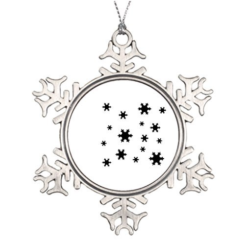 Metal Ornaments Tree Branch Decoration Aspen Outdoor Christmas Snowflake Ornaments]()