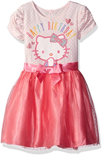 Happy Birthday Hello Kitty - Hello Kitty Little Girls' Happy Birthday Tutu Dress, Blushing Bride, 4