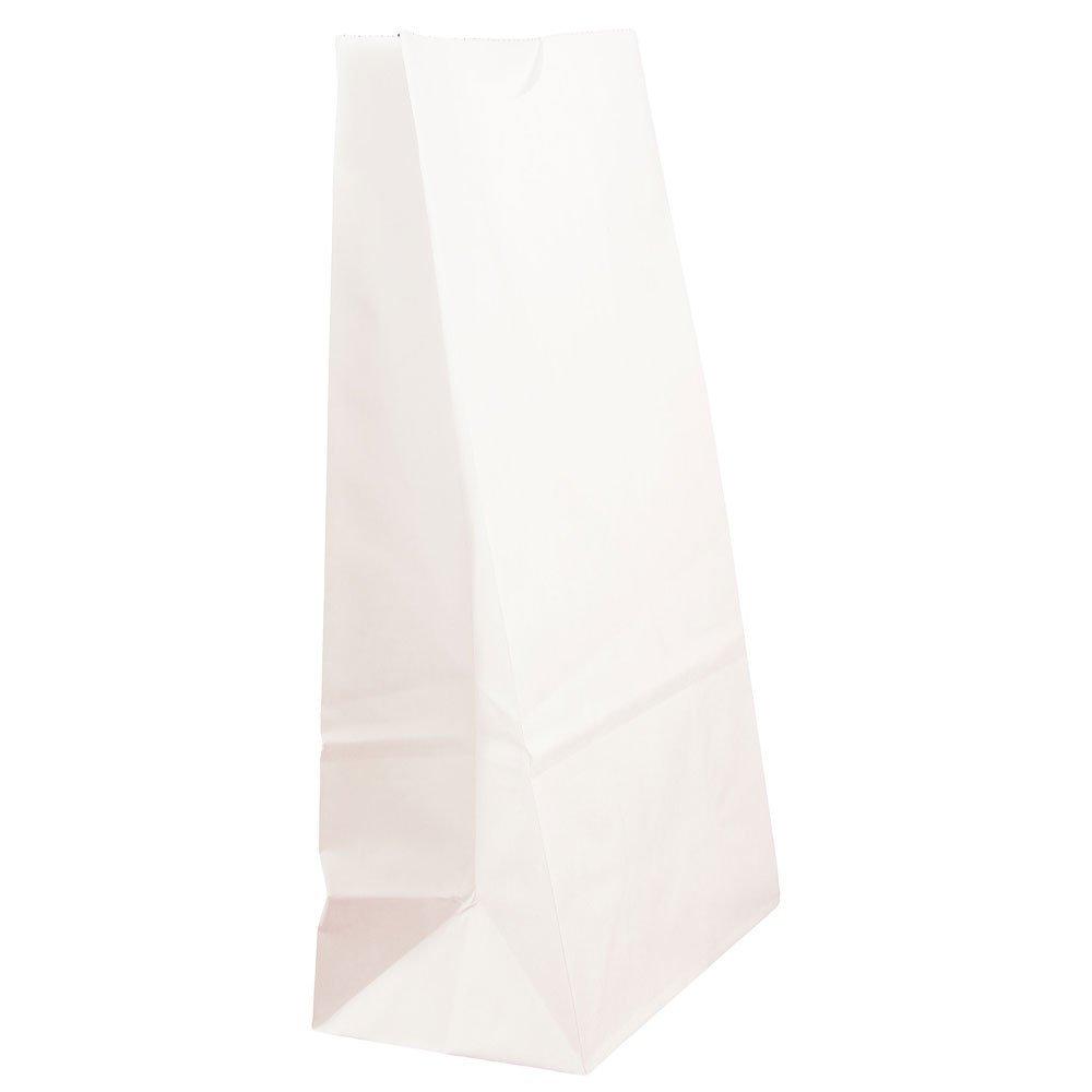 JAM Paper Lunch Bags - Medium - 5'' x 9 3/4'' x 3'' - White Kraft - 500/Box