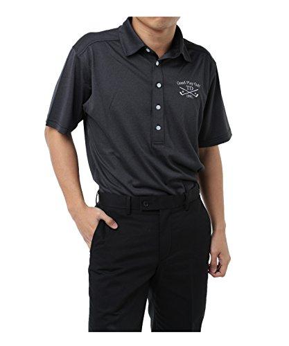 ツアーディビジョン メンズ ゴルフウェア ポロシャツ 半袖 デニム調半袖シャツ TD220101H07 BK M