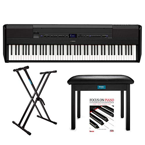 - Yamaha P515 88-Key Weighted Action Digital Piano with Knox Piano Bench, Keyboard Stand and Instructional Piano Book