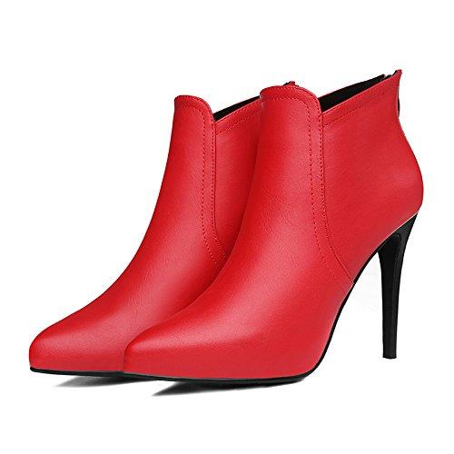 KHSKX-Nuevos Zapatos De Mujer En Invierno Y De Invierno Tacones Comodos En Europa Y América De Gules Treinta Y Cuatro Thirty-nine