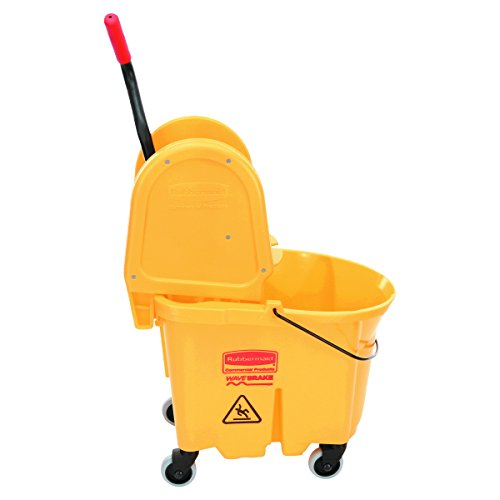 Rubbermaid Commercial 757788YW Wavebrake 35 Quart Bucket/Wringer Combinations, Yellow