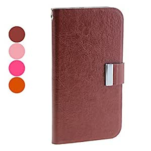 xiao Simple Style Protective PU Leather Case with Stand and Card Slot for Samsung Galaxy Note 2 N7100 (Assorted Colors) , Rose