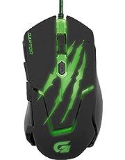 Fortrek OM-801, Mouse Gamer USB, 3200 DPI, Preto/Verde