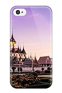 Premium Protection Wat Ratchanaddaram Case Cover For Iphone 4/4s- Retail Packaging