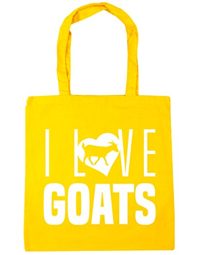 42cm Beach litres Shopping I 10 Tote Love Bag Yellow Goats x38cm Gym HippoWarehouse qSxT4w