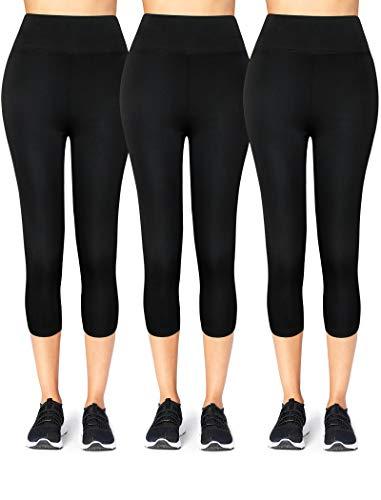 Moon Wood Yoga Capri Leggings for Women High Waist Workout Leggings Non See Through Fabric