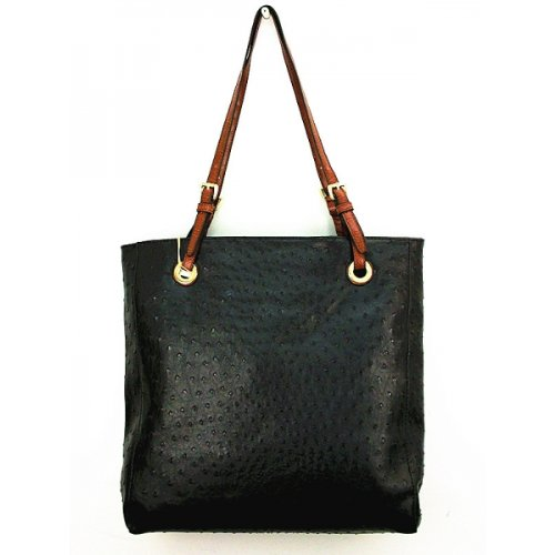 Designer Inspired Gina Tote - Ostrich Finish - (Inspired Tote Handbag)
