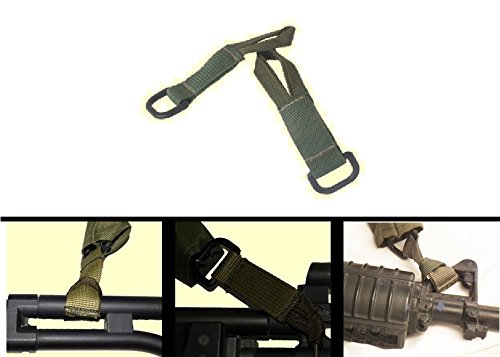 Ultimate Arms Gear IDF Israeli Defense Forces Pair of Slip On OD Olive Drab Green Sling Mount Strap Loop Adapter with D-Ring For Remington 700 770 M24 870 1187 11-87 12 20 Gauge