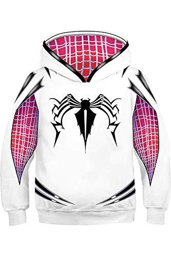 BeautifulTimes Kids Costumes Super Heros Gwen Hoodies Miles