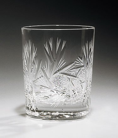 Handcut Crystal Old Fashion Glasses, Mouth Blown in a Pinwheel Design, 9.5 Ounce Set of 6 MyCuisina