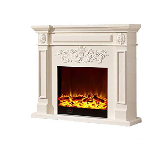 Cheap CHUN LING White Southern Enterprise Carved Electric Fireplace Ivory Brushed Texture Freestanding Portable Fireplace Energy Efficient Electric Fireplace Black Friday & Cyber Monday 2019