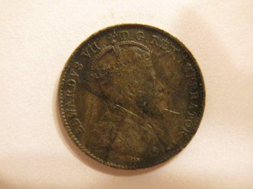 1910 Canada 5 cent 5c silver coin - King Edward VII