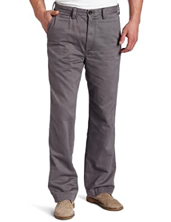 Haggar Men's LK Life Khaki Relaxed Straight Fit Flat Front Chino Pant,Charcoal,32x30