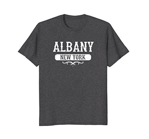 Mens Albany New York T Shirt 3XL Dark Heather - Albany New York