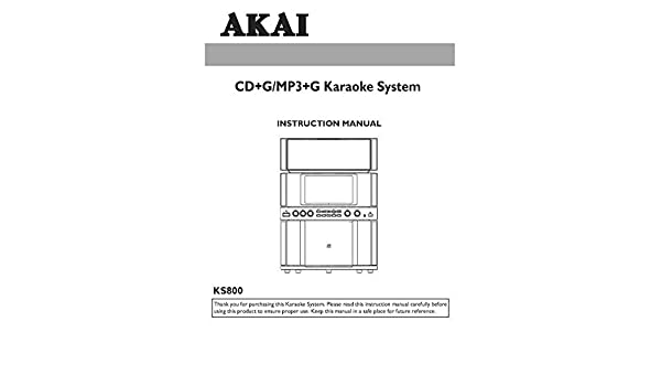 akai karaoke ks800 manual