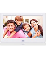 Kenuo Digital Photo Frame 7 Inch 1920x1080 High Resolution 16:9 Full IPS Display Digital Picture Frame Auto-Rotate Image Preview Electronic Picture Frame Video Calendar Clock Support SD Card,USB
