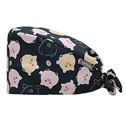 KYLEON Adjustable Surgical Scrub Cap Medical Bouffant Turban Cap Sweatband Scrub Hat Head Cover for Women Men Doctor Nurse