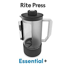 Rite Press Essential Plus, French Press Coffee Maker, Integrated Thermometer, Built in Hourglass Timer, and Easy-Clean…