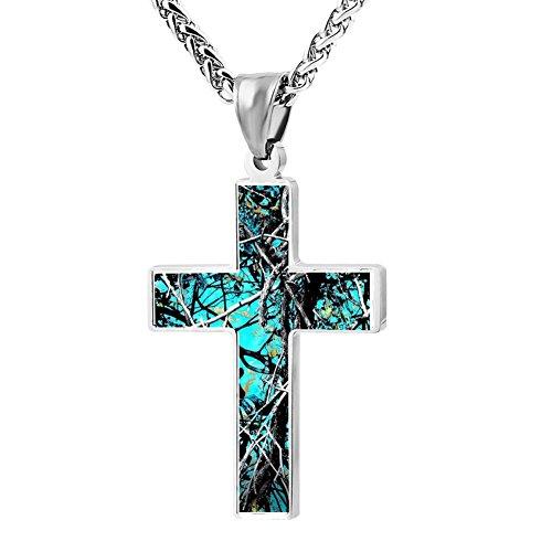 Serenity Male Guards - BlingDi Fashion Design Muddy Girl Serenity Camo Zinc alloy Religious Cross Pendant Necklace
