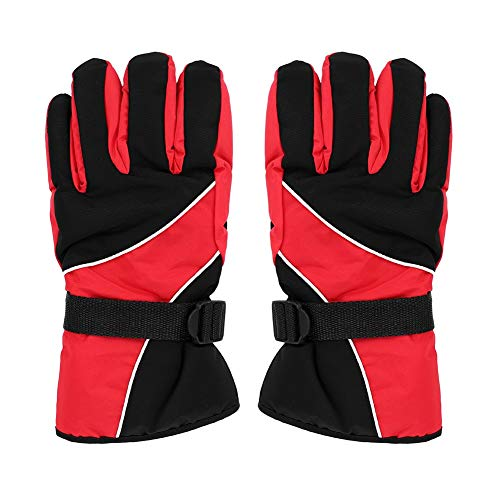 ITODA Men Ski Gloves Thermal Waterproof Windproof Snow Anti-Slip Winter Full Palm Protection Breathable Gloves Snowboarding Shoveling Motorcycle Cycling Shell with Elastic Adjustable Strap