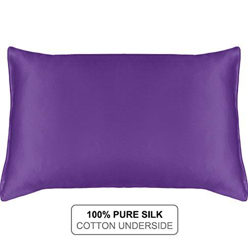 MYK SILK - Natural Silk Pillowcase with Cotton Underside for Hair and Facial 19