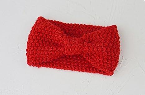 AXQWERST Secador De Banda De Tejido De Invierno Cálido Diadema Decorativos,Rojo: Amazon.es: Deportes y aire libre