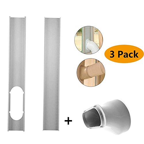 SAIPRO Window Slide Kit Plate/Window Vent Adapter,Portable AC Vent Kit Exhaust Hose Connector Kit,2Pcs Window Slide Kit Plate 6inch Window Adapter for Portable Air Conditioner