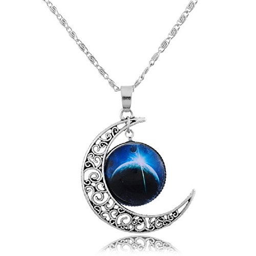sharefashion-hollow-pattern-crescent-moon-sky-time-round-pendant-chain-necklace-sf-up00309