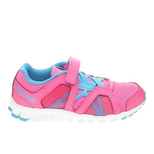 Reebok  Realflex Train Rs 2.0 Alt, Chaussons de gymnastique pour fille Rose Rosa/Azzurro