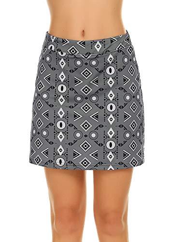 Ekouaer Women Workout Skorts Plus Size Tummy Control High Waist Skirts Athletics Exercises Clothes