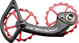 CeramicSpeed Oversized Pulley Wheel System with Coated Bearings Shimano 10 and 11-Speed, Alloy Pulleys and Carbon Cage, Red