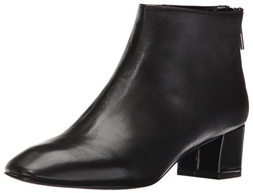 Leather Nine Boot Women's Anna West Black wxYZgq