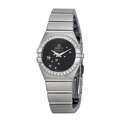 (Omega Constellation Star Black Dial Stainless Steel Ladies Watch)