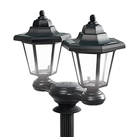 Garden Lamp Post Lantern Black 1-Light Victorian Lamposts Tall Outdoor Patio NEW