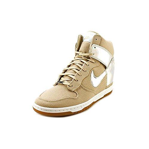 Nike Dunk Sky Hi Vntg Scarpe Da Ginnastica In Tessuto Da Donna Scarpe Argento Metallizzato / Lino (tokyo)